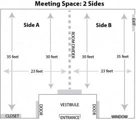 Beaver Village Winter Park meeting space floorplan.