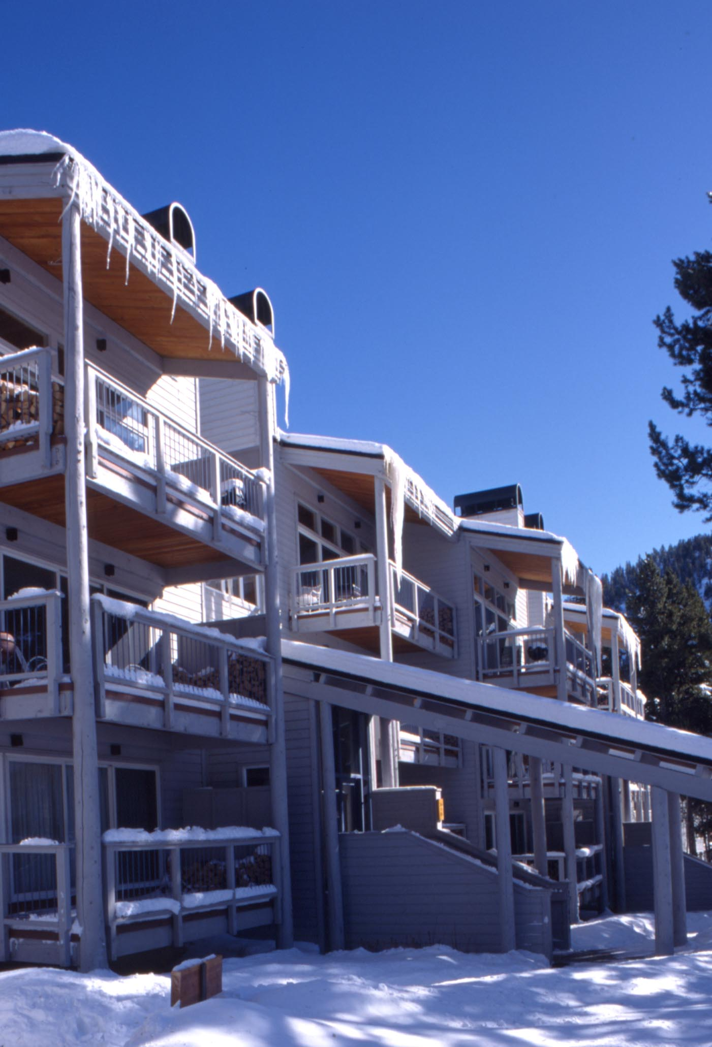 Exterior of condos at Keystone Village. 35mm