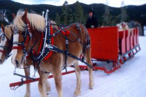 Keystone sleigh rides in the winter.  35mm