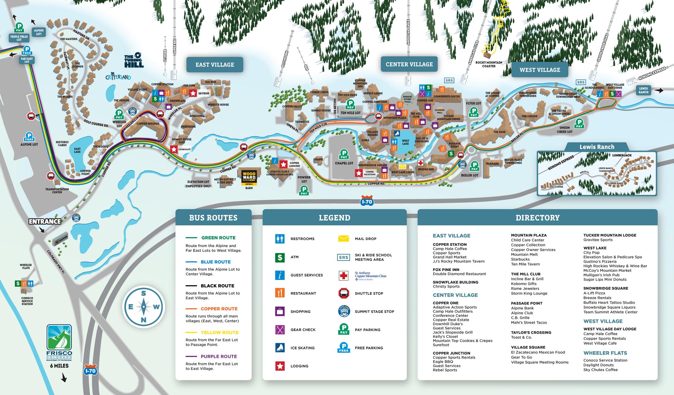 Copper Mountain - Maps
