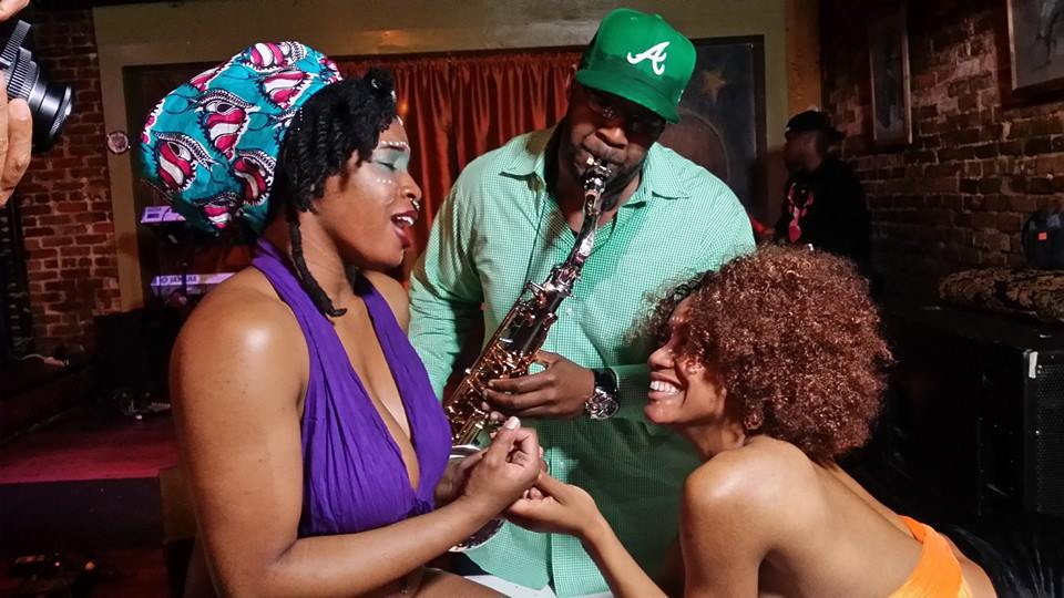 WildOrchid and PrincessYEME getting good sax - Devon Barrington Allen