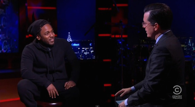 """Soundcheck: Kendrick Lamar debuts new Untitled song on """"The Colbert Report"""""""