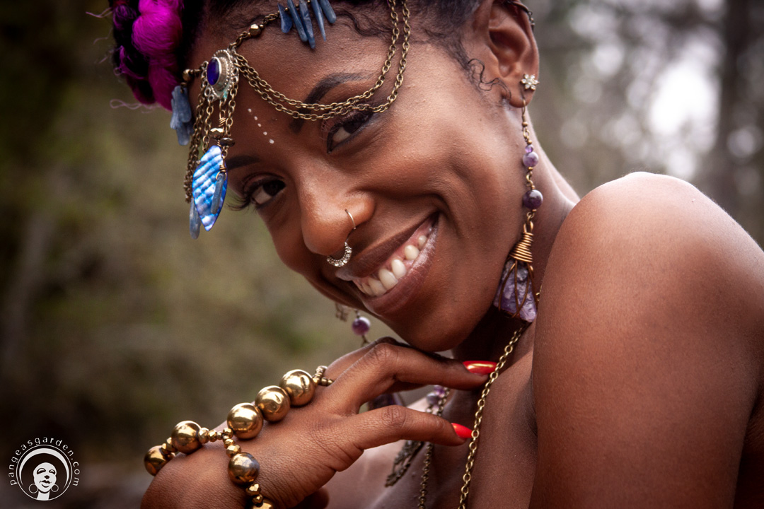 Pangea's Lookbook: Sun Goddess Jewelry's stylings on earthSista AsmaraMaat
