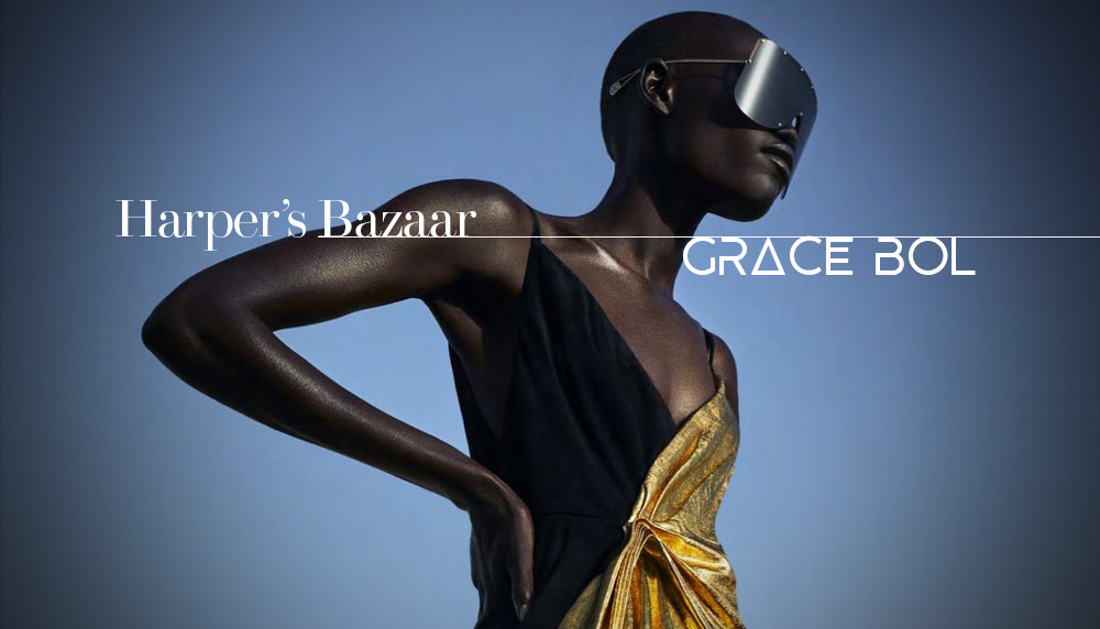 Fashion fierce! Grace Bol in Harper's Bazaar