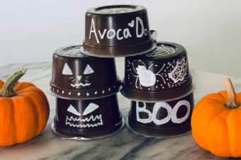 Repurposed Avoca'Do Cups; A Halloween Decorating Craft