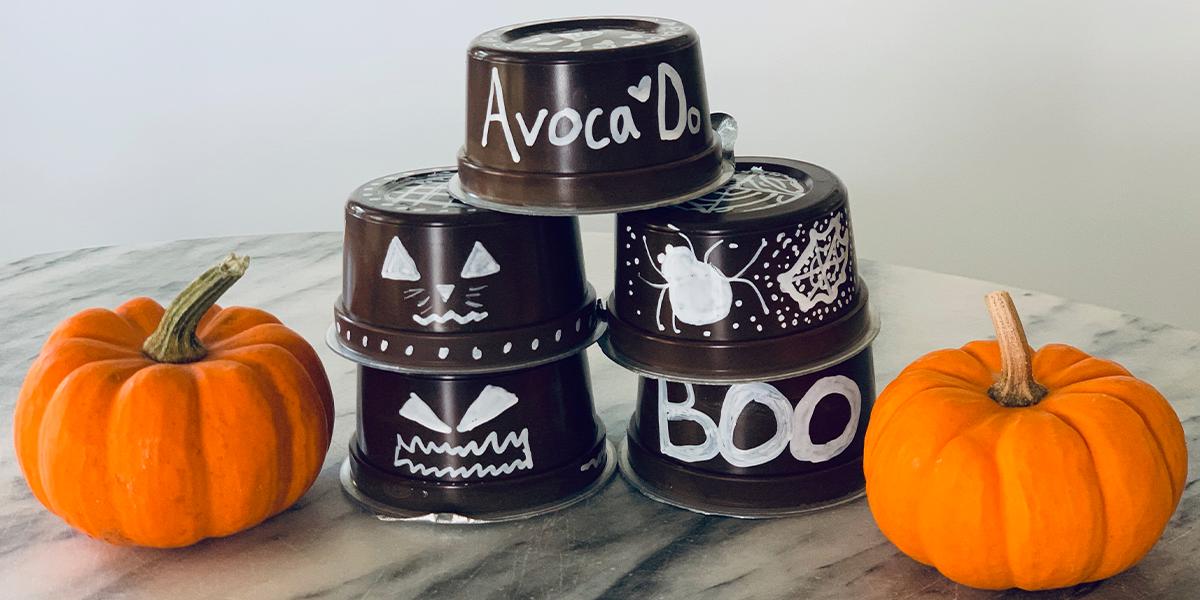 Repurposed Avoca'Do Cups; A Halloween Decorating Craft