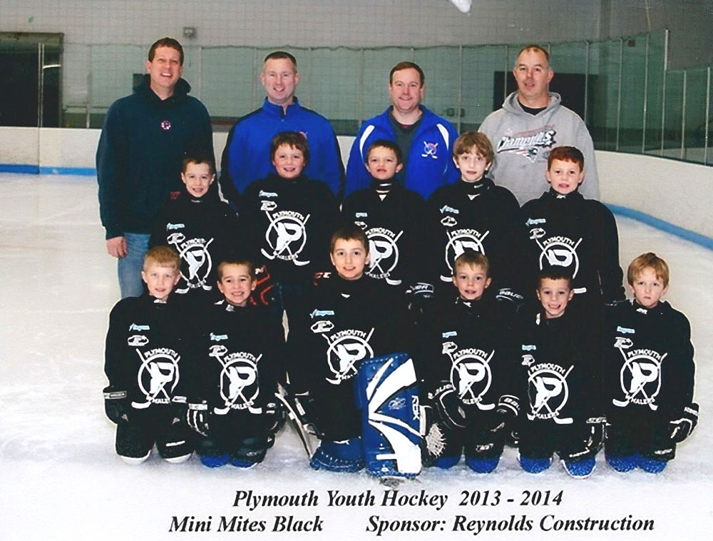 Reynolds Construction Services has sponsored the Plymouth Youth Hockey team for the past four years.