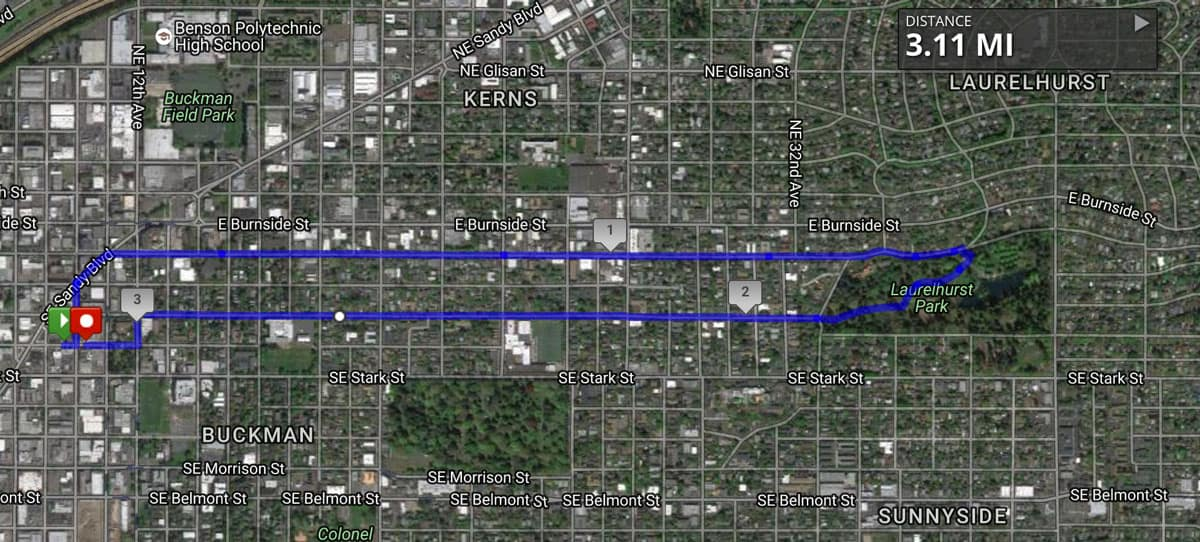 Base Camp 5K Route