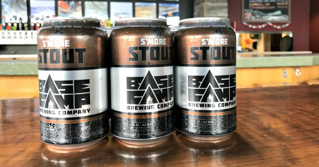 Base Camp Brewing Smore Stout cans