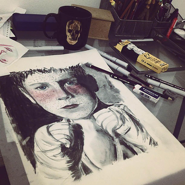 Charcoal + Pastel