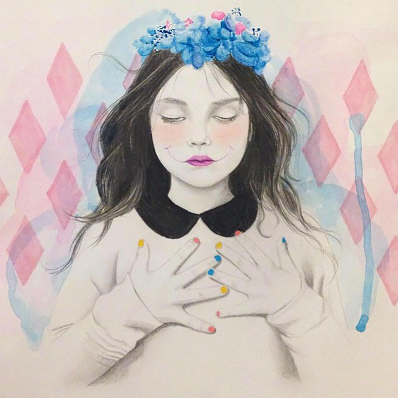 Pencil + Watercolor + Copic Pen