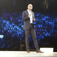 Microsoft CEO Satya Nadella at WPC 2016.