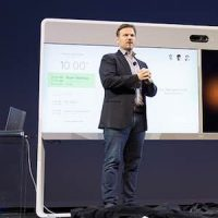 Cisco's Rowan Trollope demonstrates Spark Assistant at Partner Summit