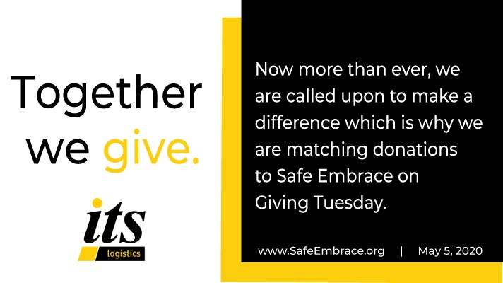 ITS LOGISTICS MATCHES GIVING TUESDAY DONATIONS
