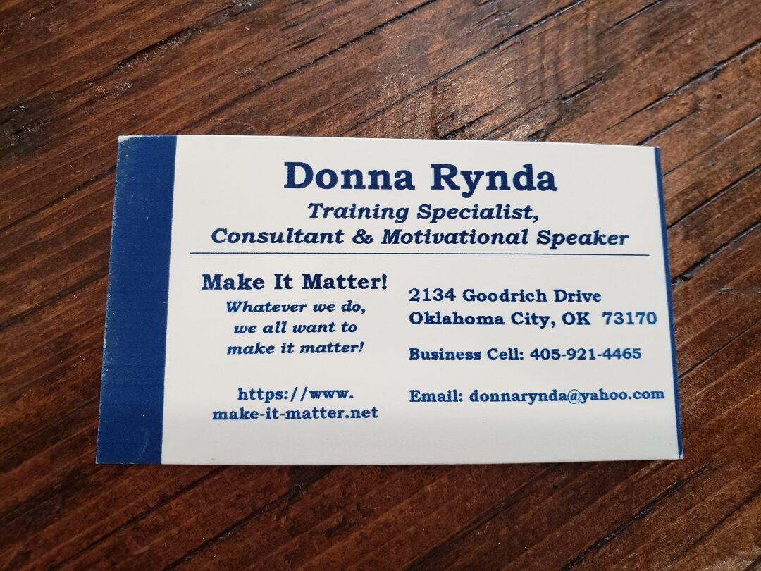 Donna Rynda Contacts