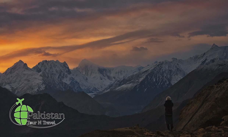 Nagar from Hunza at dusk
