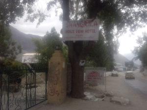 shangrila chilas hotel signboard