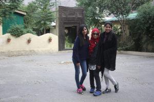 tourists in shangrila chilas hotel Diamir