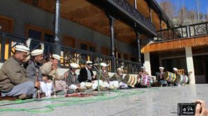 Music played by performers in Hunza Embassy Hotel karimabad