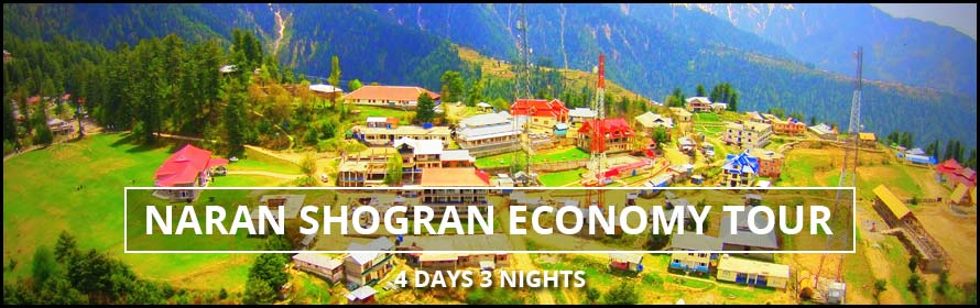 Naran Shogran Economy Tour 4Days 3Nights Package with prices