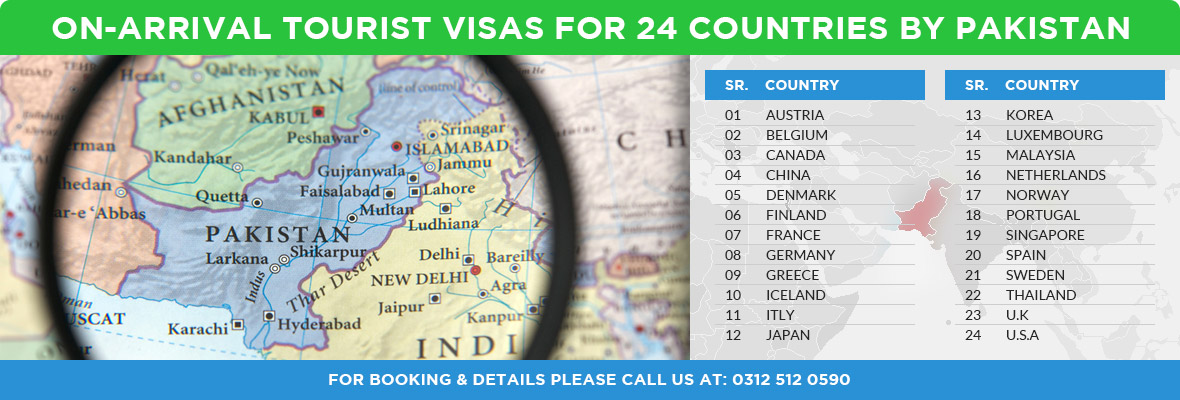 On-arrival Tourist Visas for 24 countries by Pakistan will exhibit the positive representation of country