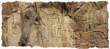 Kargha Budha Sculpture in Gilgit City in Karakoram Highway Tour