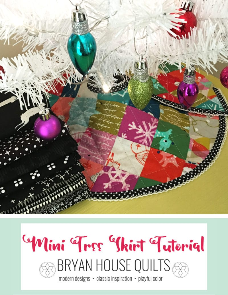 Mini Christmas Quilted Tree Skirt Tutorial Bryan House Quilts