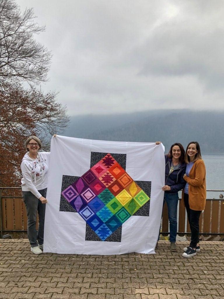 Rainbow Triangle BOM, Rebecca Bryan, in Switzerland