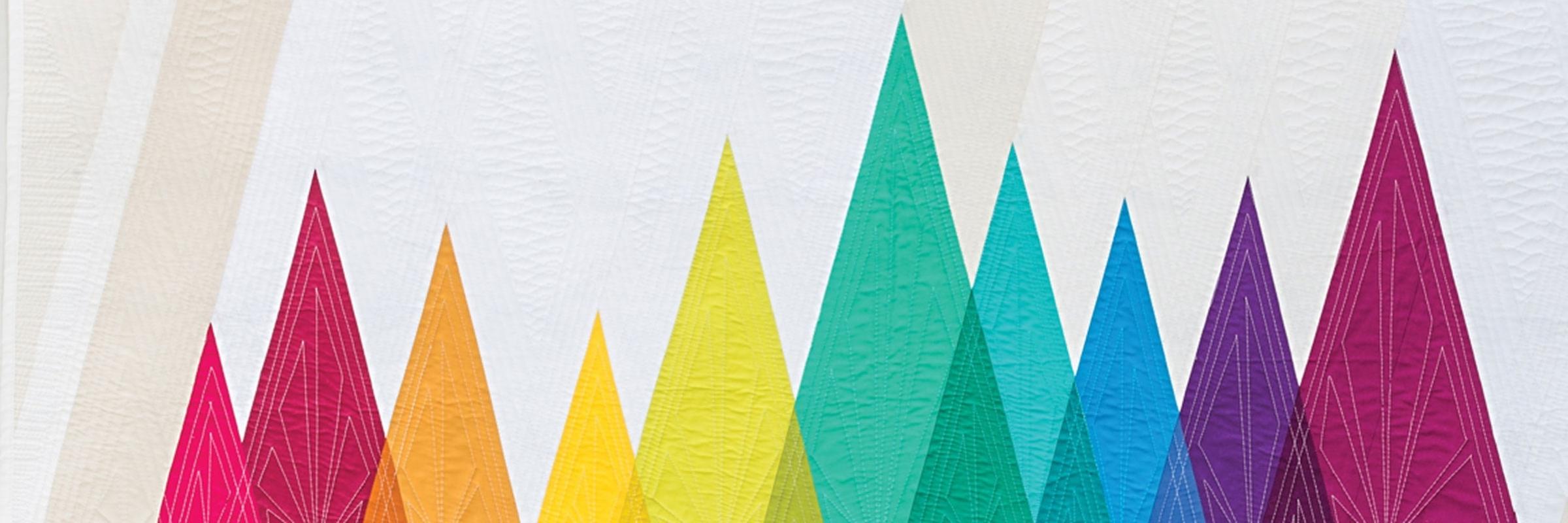 Wavelength, Modern Rainbow Quilts, Rebecca Bryan