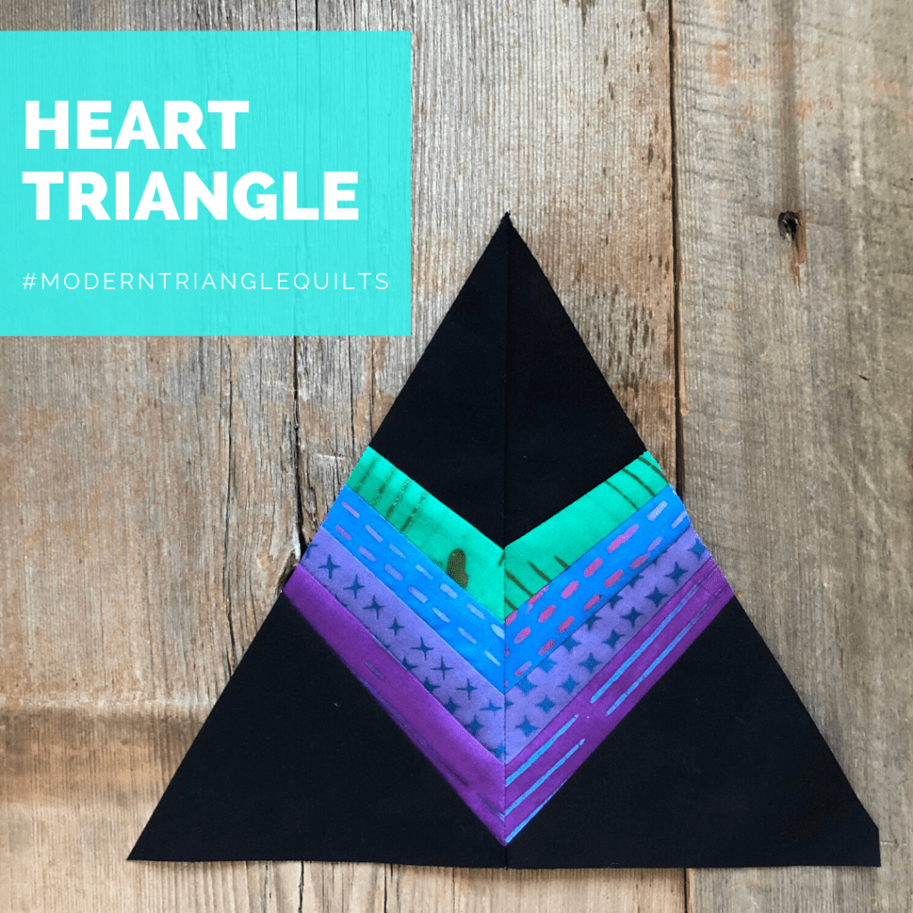 Make this free heart triangle quilt block!
