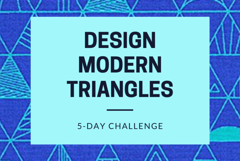Design Modern Triangles Challenge