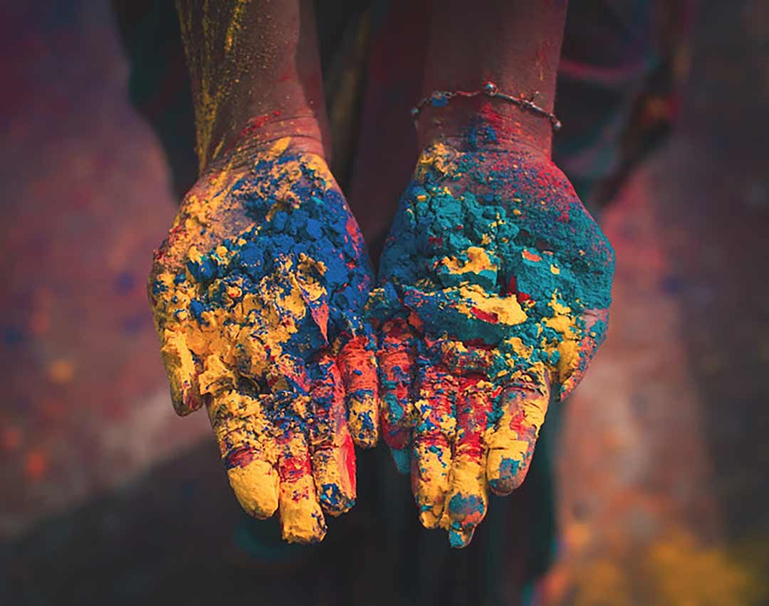 Colors for Holi festival - Vinyasa Yoga