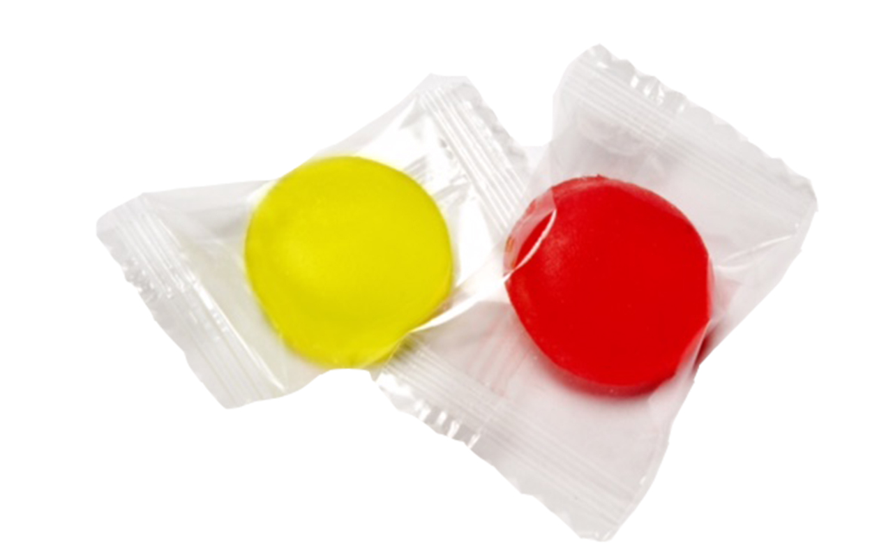2pc Yellow Red Candy Wrapper