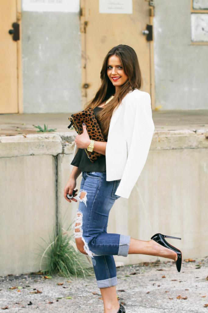 #OOTD // Leopard Print & Ripped Jeans | BondGirlGlam.com