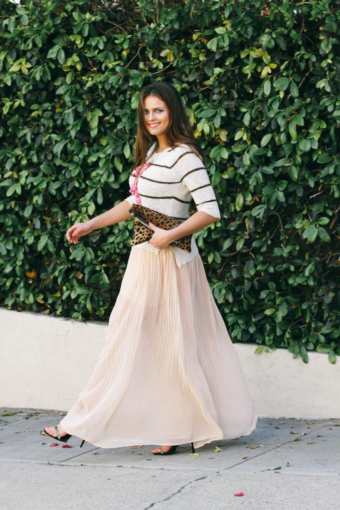 #OOTD // Spring Maxi Skirt & Stripes | BondGirlGlam.com