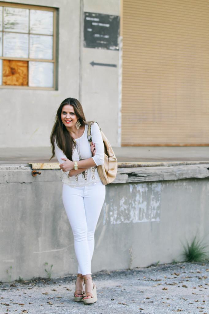 #OOTD // Spring Whites | BondGirlGlam.com