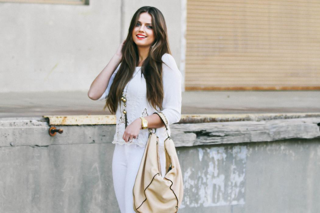 #OOTD // Spring White On White Trend | BondGirlGlam.com