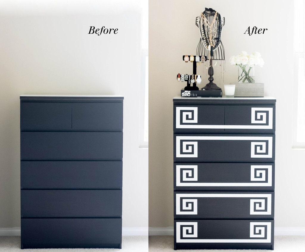 Ikea Hack // DIY Greek Key Dresser | BondGirlGlam.com
