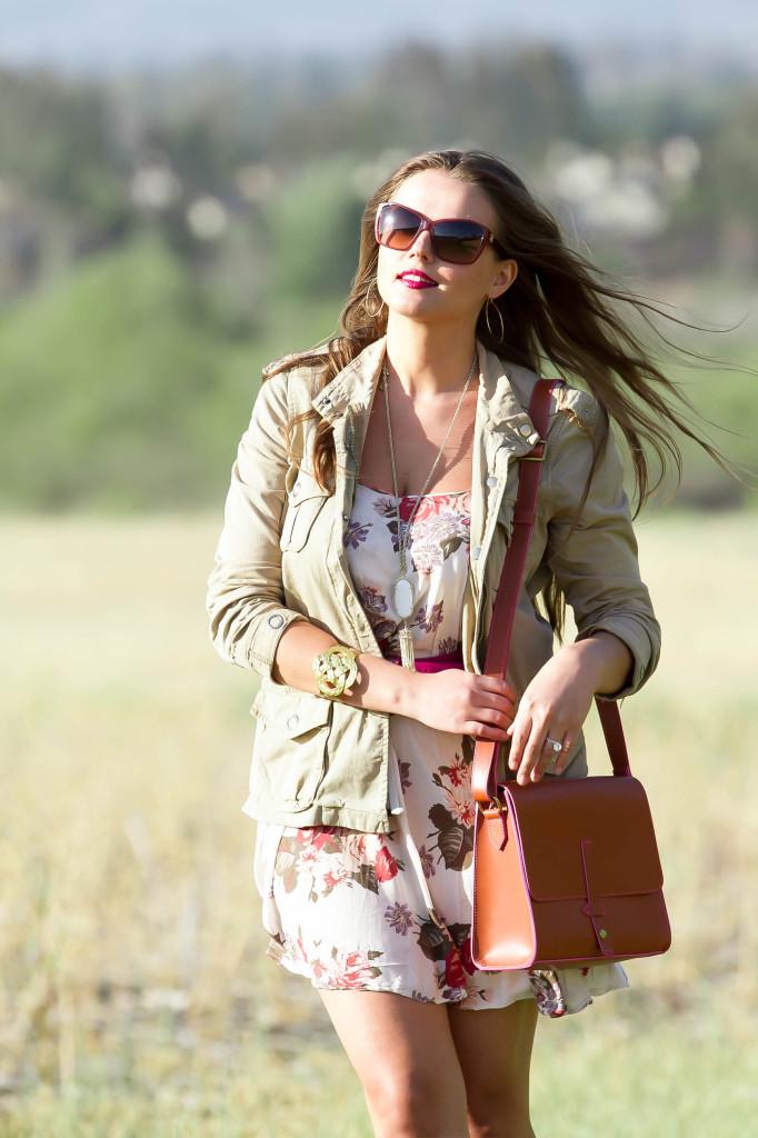 #OOTD // Floral Dress & Anorak