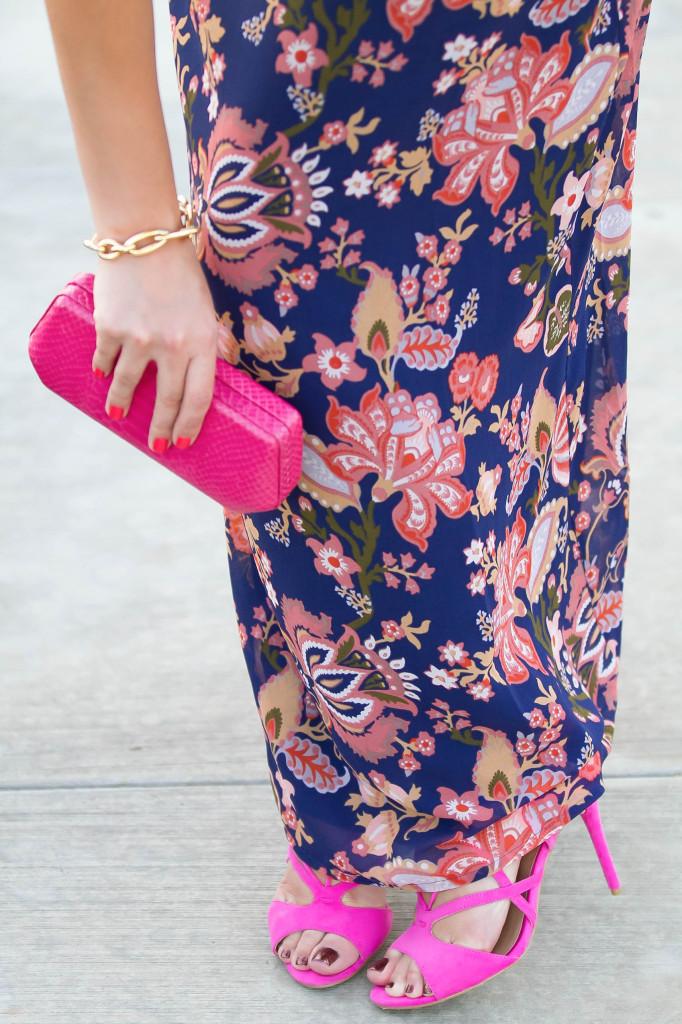 #BumpStyle // Floral Maxi Dress | BondGirlGlam.com