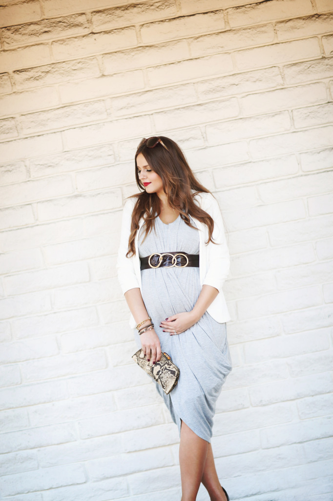 #BumpStyle // Drape Front Goddess Dress   BondGirlGlam.com