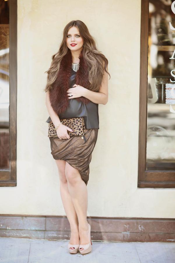 #BumpStyle // Leather, Fur, & An Asymmetrical Skirt | BondGirlGlam.com