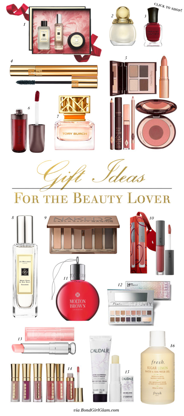 Gift Guide for the Beauty Junkie in Your Life | BondGirlGlam.com