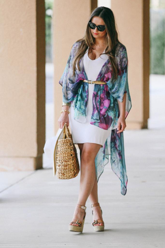 #OOTD // Orchid Kimono Resort Chic | BondGirlGlam.com