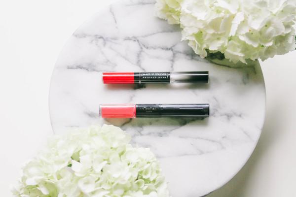High-End Vs. Drugstore // Make Up For Ever & L'Oreal Paris Long-Lasting Lips   BondGirlGlam.com