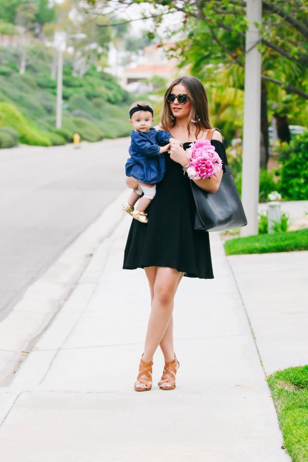 #OOTD // Black Pom Pom Dress & Statement Earrings | BondGirlGlam.com