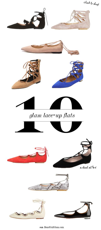 10 Glam Lace-Up Ghillie Flats | BondGirlGlam.com