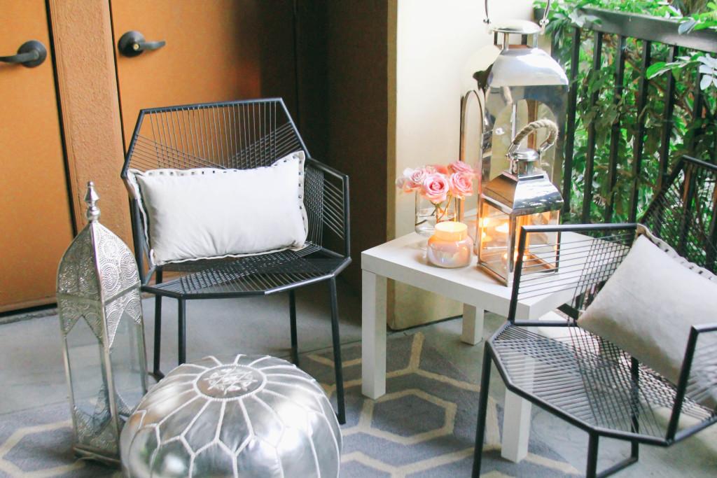 Style At Home // Small Space Moroccan Patio Décor   BondGirlGlam.com