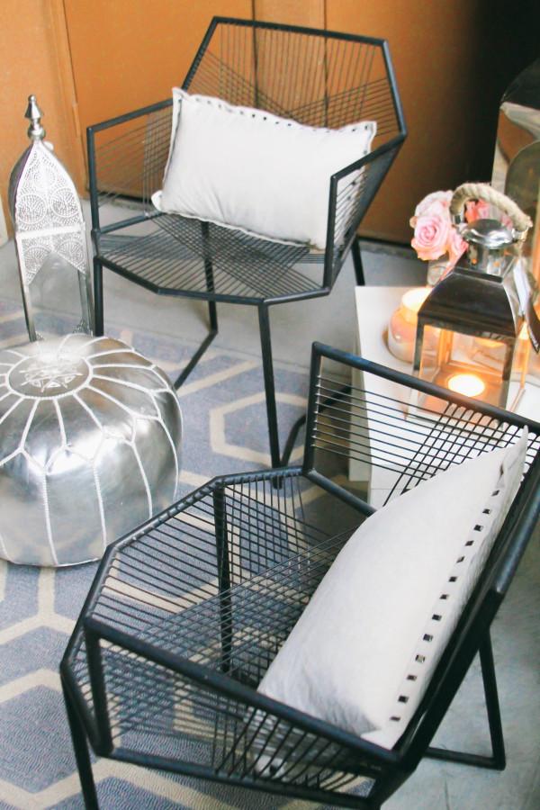 Style At Home // Small Space Moroccan Patio Décor | BondGirlGlam.com