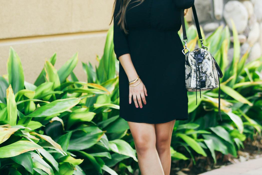 #OOTD // Black Button-Down Dress & Espadrille Wedges   BondGirlGlam.com